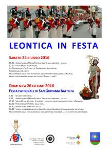 Leontica in  festa  2016